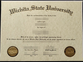 Where to buy a 100% copy of Wichita State University degree, make WSU diploma