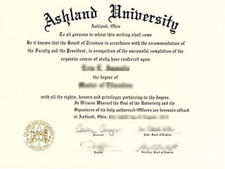 Where to buy a fake Ashland University degree in the USA
