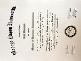 Where to order a fake George Mason University degree, copy GMU diploma
