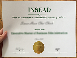 How can I get a fake INSEAD MBA degree online?