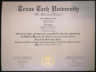 Order a fake Texas Tech University degree, make TTU diploma in the USA