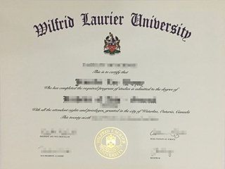 Order a fake Wilfrid Laurier University diploma, buy WLU degree in Canada