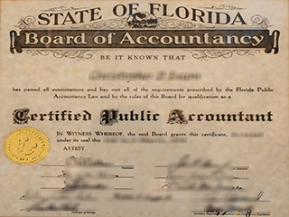 Where to get a fake Florida CPA certificate, buy USA CPA certificate