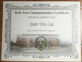 Where to get a fake Hamilton Grammar School diploma certifiate