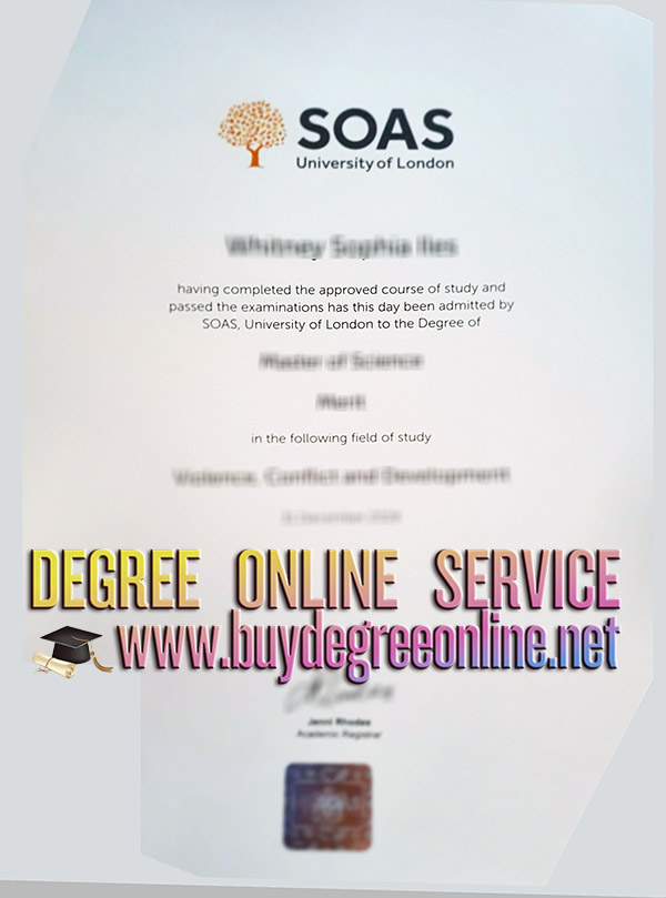 SOAS University of London diploma