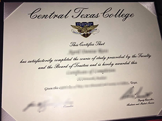 Where to duplicate a Central Texas College(CTC) diploma certificate online
