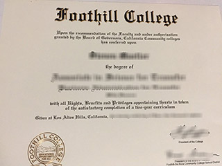 How much to buy a fake Foothill College diploma, get community college degree