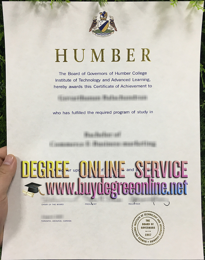Humber College degree