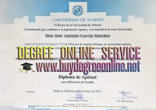 University of Almería diploma