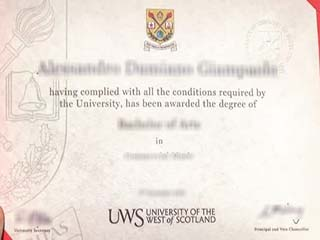 Where to get a fake University of the West of Scotland degree online