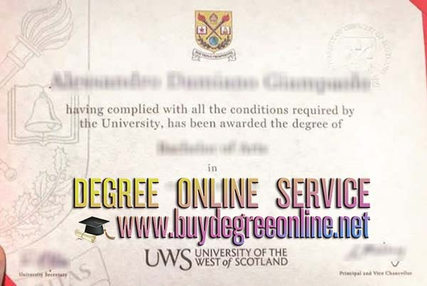 university of the west of scotland degree