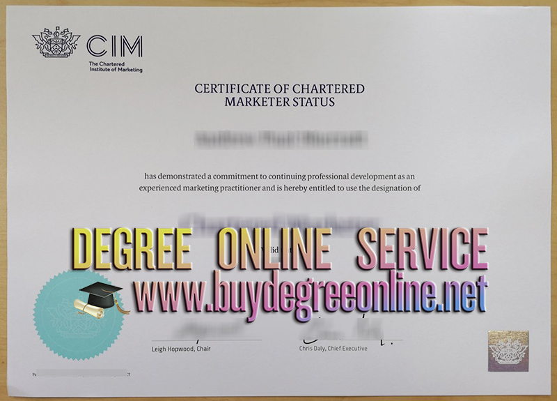 Chartered Institute of Marketing certificate