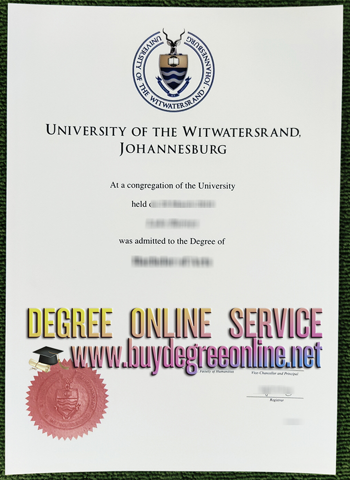 University of the Witwatersrand diploma