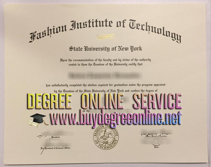 Fashion Institute of Technology diploma
