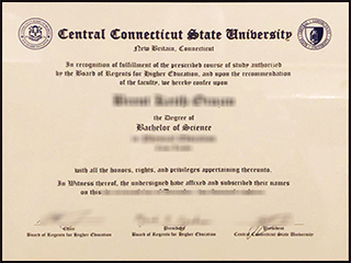 Fake Central Connecticut State University BSc degree, buy CCSU diploma