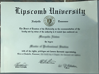 Where to obtain a realistic Lipscomb University diploma in the US