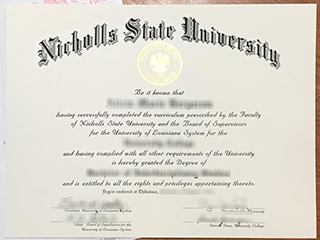How to get a fake Nicholls State University degree online