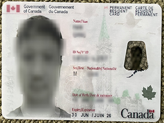 Phony Canada Permanent Resident card, buy a fake PR card online