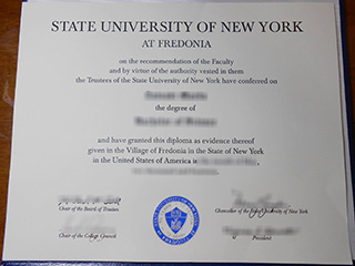 How much to get a fake SUNY Fredonia degree certificate online