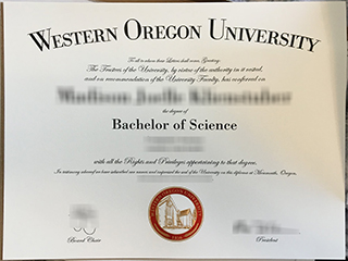What is the most popular Western Oregon University fake degree?