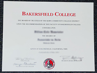 Buy a fake Bakersfield College diploma, get a BC degree in California