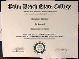 How to get a fake Palm Beach State College degree in Florida